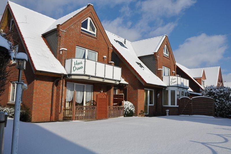 Haus Mühlenblick im Winter