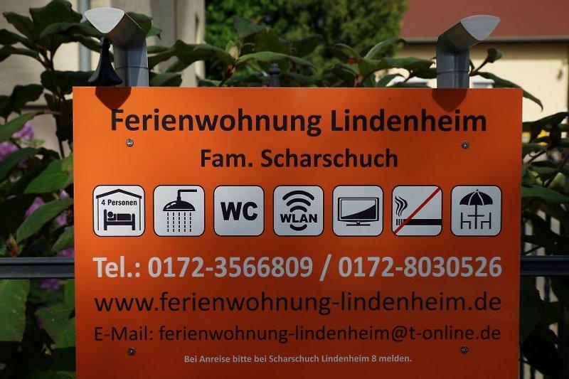 Ferienwohnung Dresden Lindenheim Welcomeschild