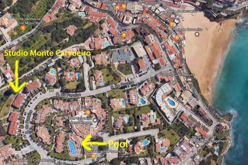 Location: about 8 minutes to the beach and Carvoeiro center, 3 minutes to the swimming pool, restaurantes, café and much more