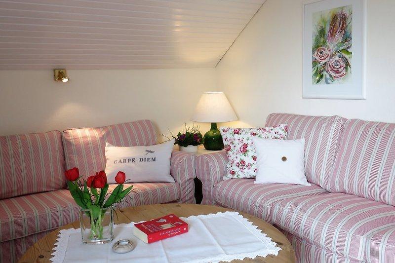 Wohnzimmer Ferienwohnung im Rembrandtwinkel