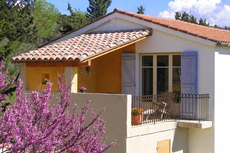 Terrasse vor Wohnbereich