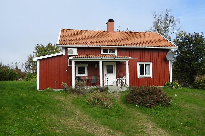 Ansicht Feriehaus Rusken in Sandvik am Ruskensee