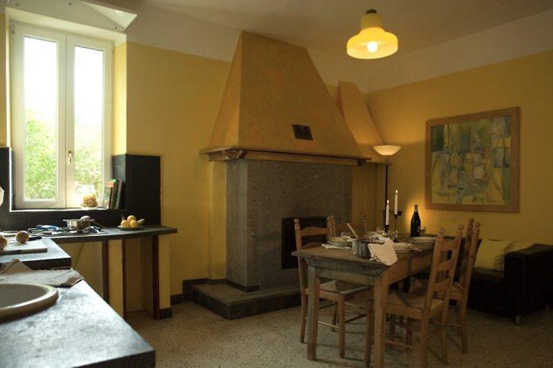 Ferienwohnung Umbrien La Rogaia, Il Peperino, Küche