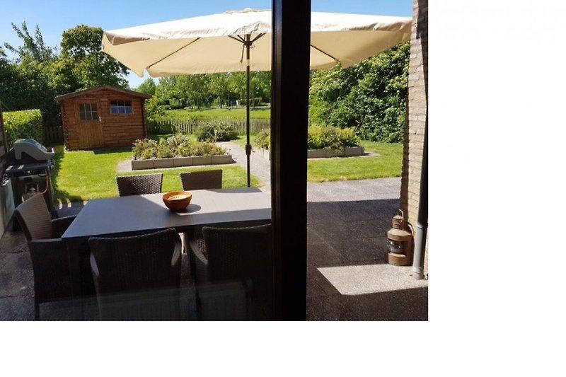 ausblick auf terrasse
