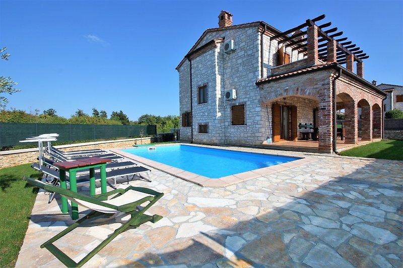 Die Villa mit privatem Pool