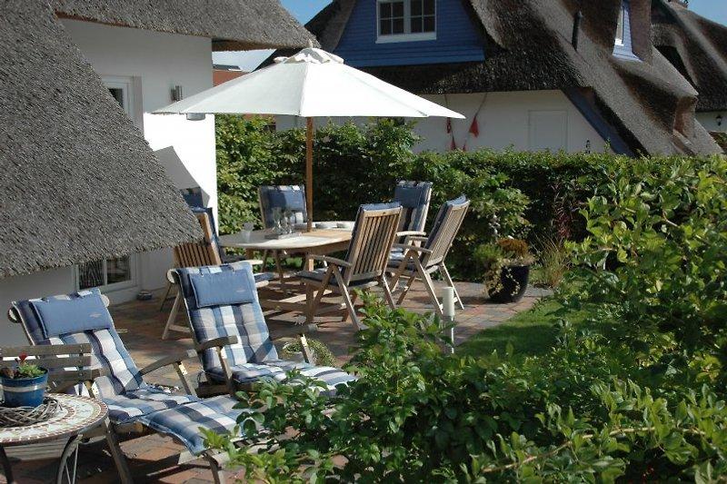 Der Garten zum entspannen und relaxen.
