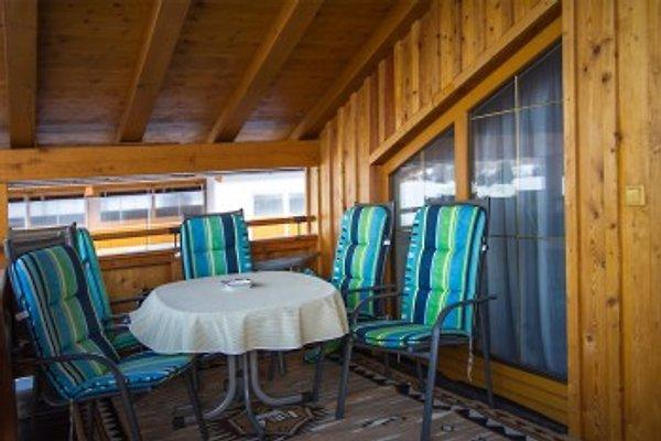 Gemütlicher Balkon in Gerti´s Ferienwohnung in Hochfilzen in Tirol