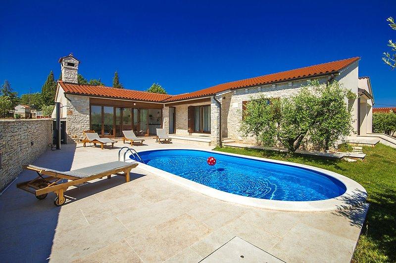 Außenansicht an die Villa Vignola