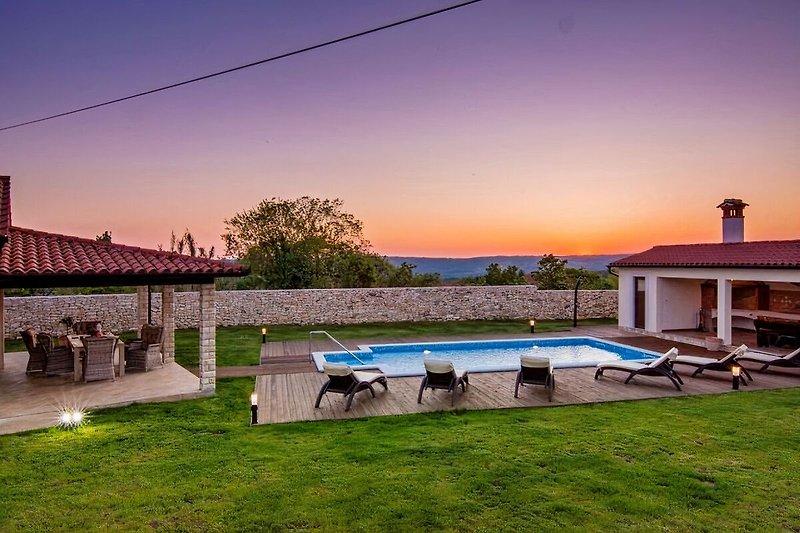Aussenbereich der Villa Anica