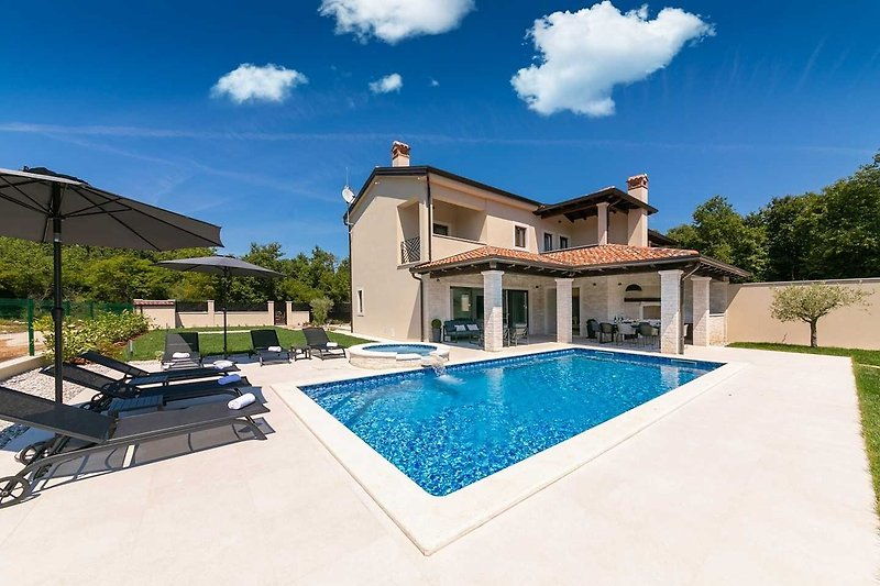 Outdoor view on Villa GreenBlue