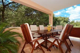 Fewo Amalija; Terrasse und Garten