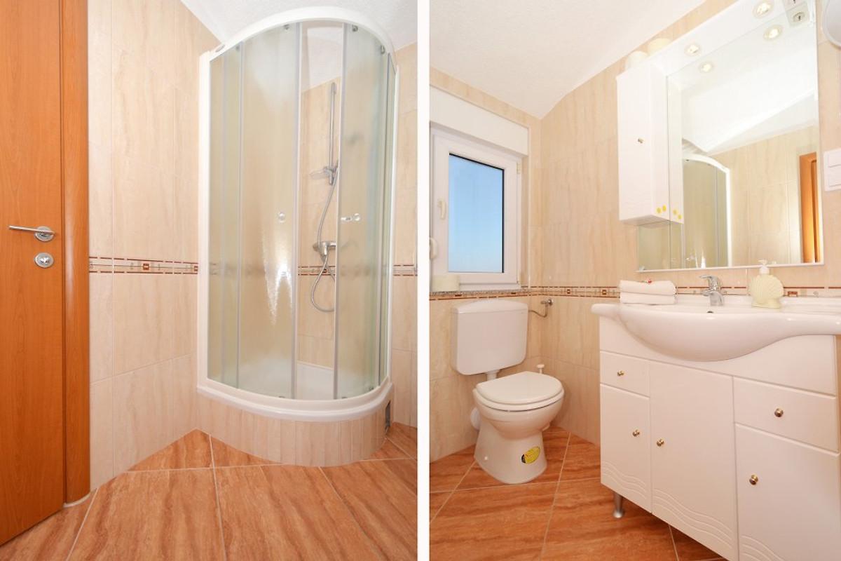 Nada 2 modern und neu ferienwohnung in okrug gornji mieten for Badezimmer 8m2