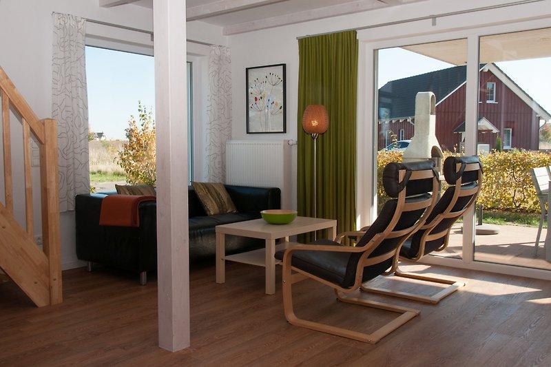 Sitzecke im offenen Wohnbereich