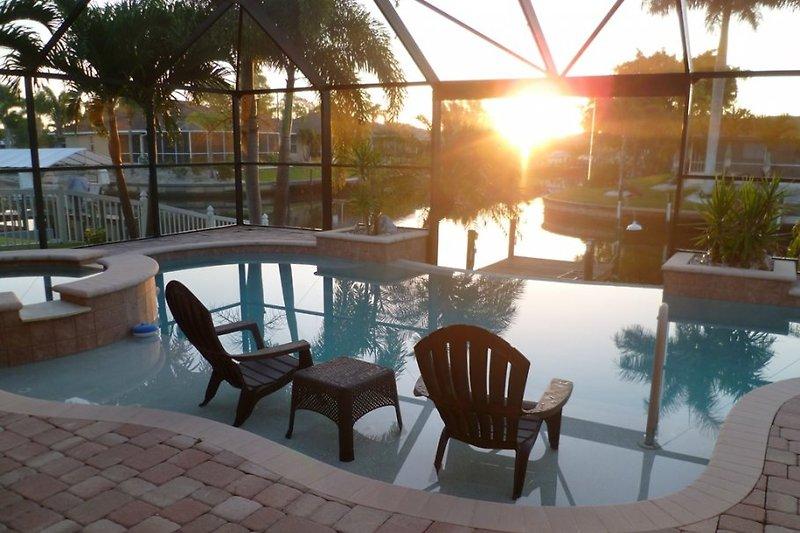 Sonnenaufgang in der Villa Sunrise