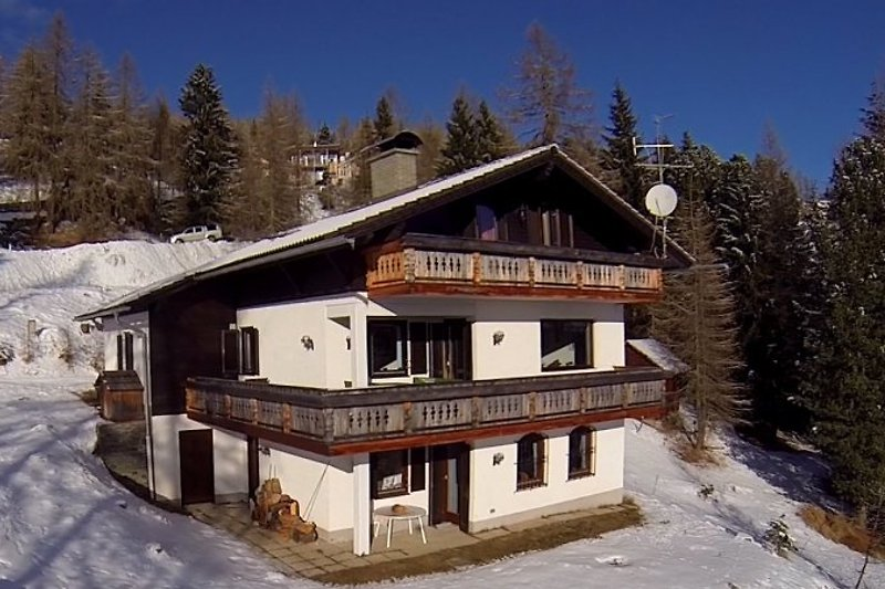 Villa-Alpenblick in Winter