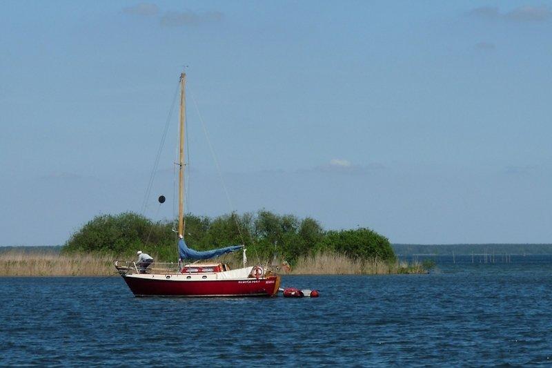 Müritz mit Boot in Sietow Umgebungsbild