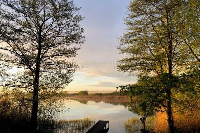 Ferienhaus Blankensee Wanzkaer See bei Sonnenuntergang