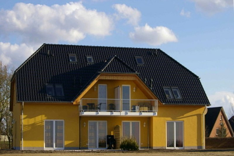 Ferienwohnung in Göhren Lebbin am Fleesensee Blick auf das Haus