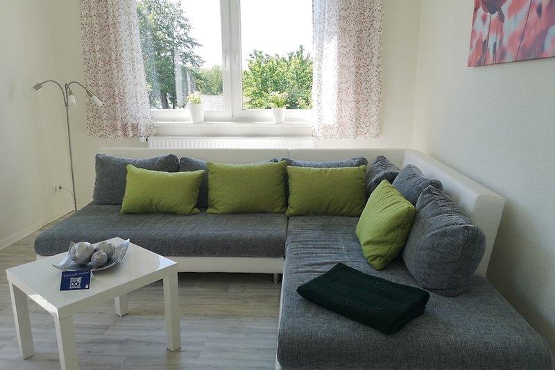 Ferienwohnung Krakow am See Wohnzimmer