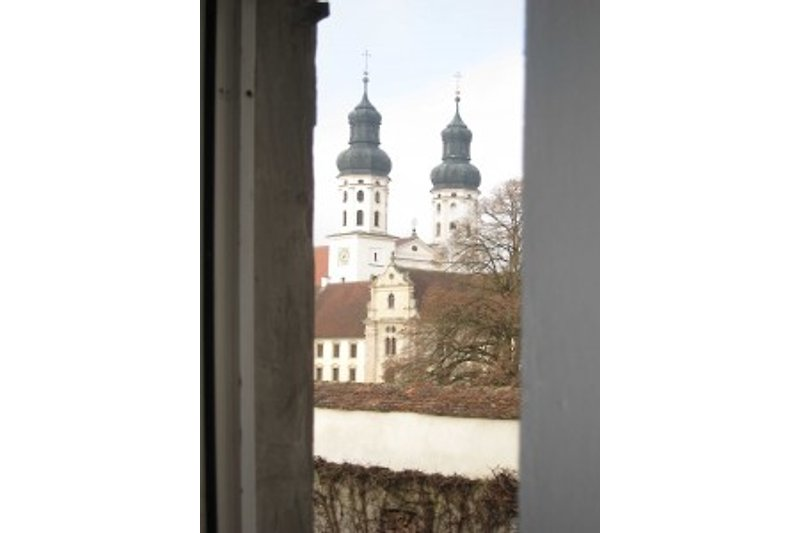 Blick aus Wohnzimmer-Fenster
