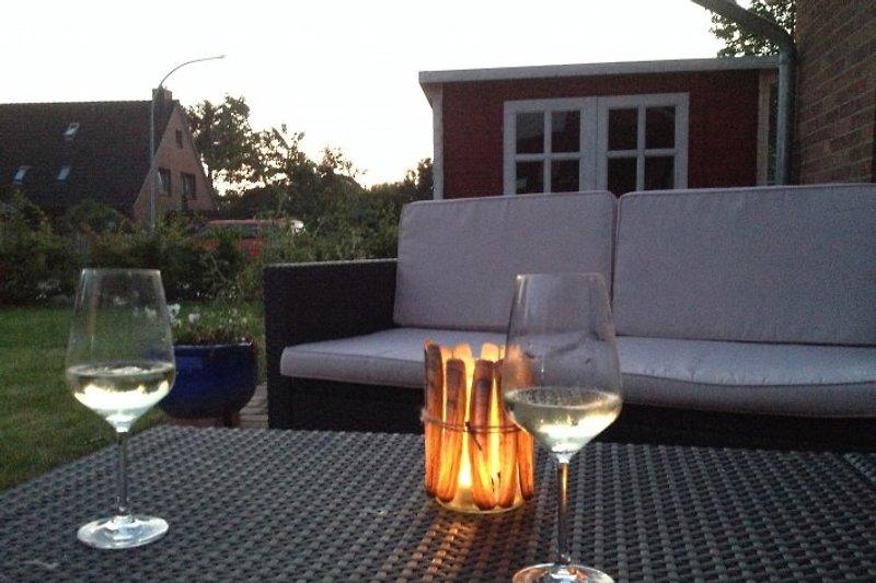 Abendstimmung auf unserer Terrasse