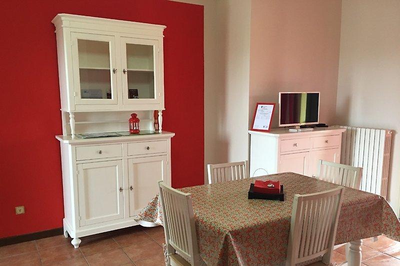Rotes Haus Wohnzimmer
