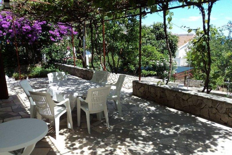 Spacious shaded terrace