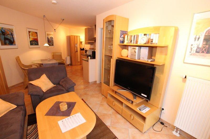 Wohnzimmer, Flat-TV, DVD-Player