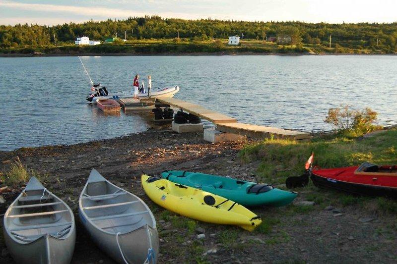 Unsere Waterfront, Steg mit Booten