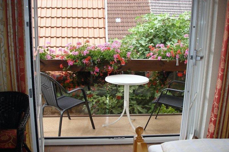 jede Wohnung hat entweder einen Balkon oder.....