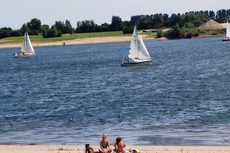 Strand auf Park. Beach at the park.