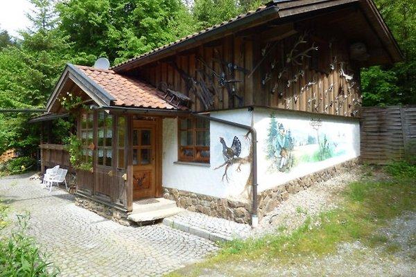 Ansicht der Ferienhütte Bayerischer Wald