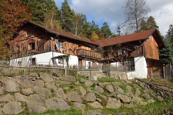Ansicht der Almhütte im Bayerischen Wald