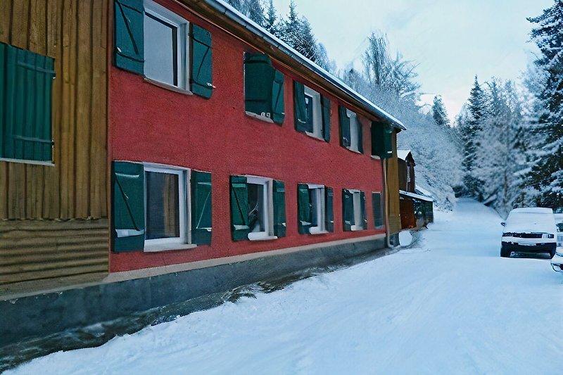 Winter Gruppenhaus Schwarzatal