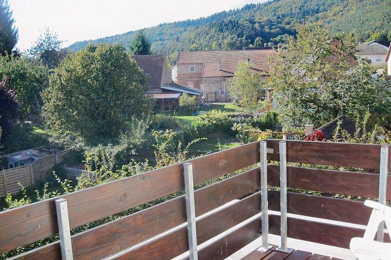 Aussicht von einem der beiden Balkone