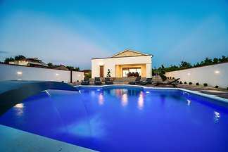 Stone villa with heated pool