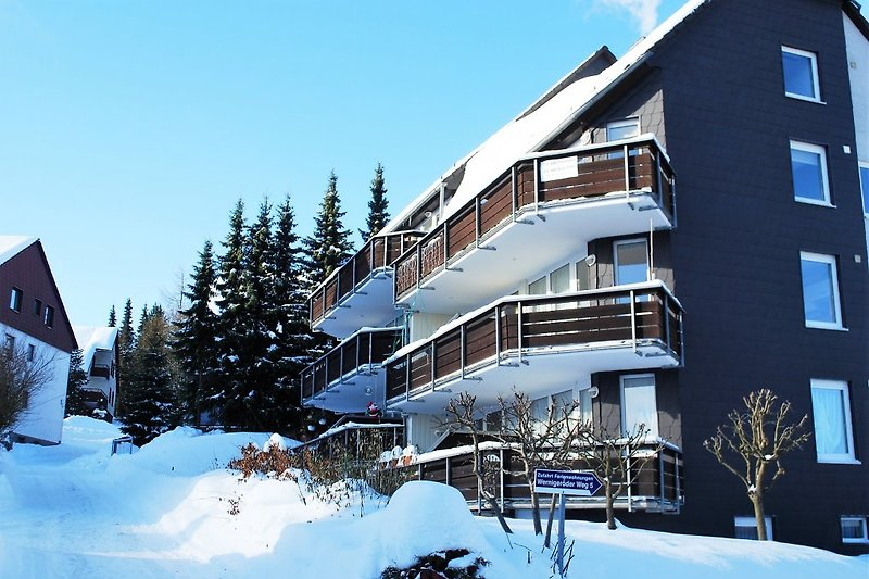 Das Haus im Winter 2