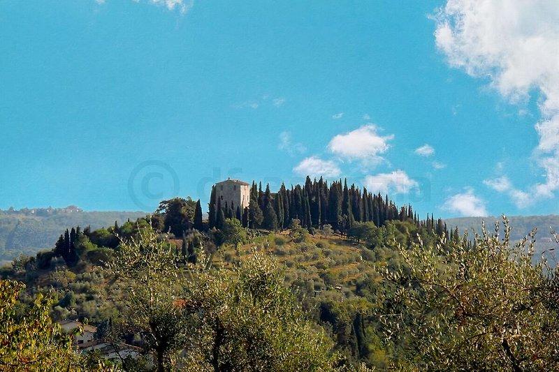 Antica torre con piscina privata 5 + 1 in Gaiole in Chianti - immagine 2
