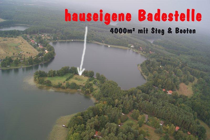Hauseigene Badestelle 4000m² groß
