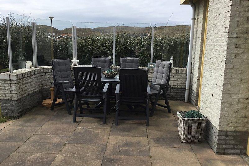 Terrasse mit Dünenblick