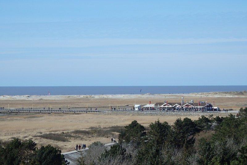 Blick auf den Strand von der Wohnung aus