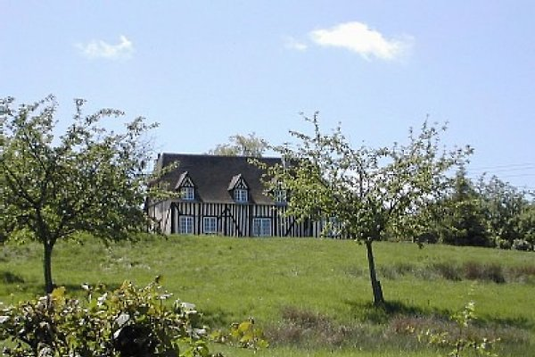 Wunderschönes Fachwerkhaus umgeben von Apfelbäumen