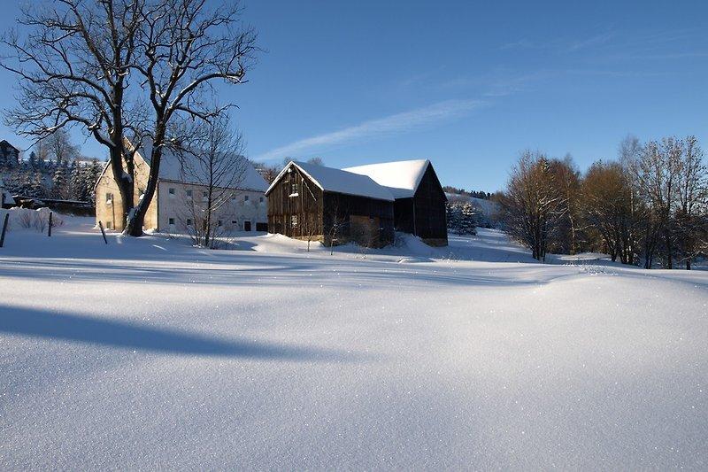 Mühlenhof im Winter