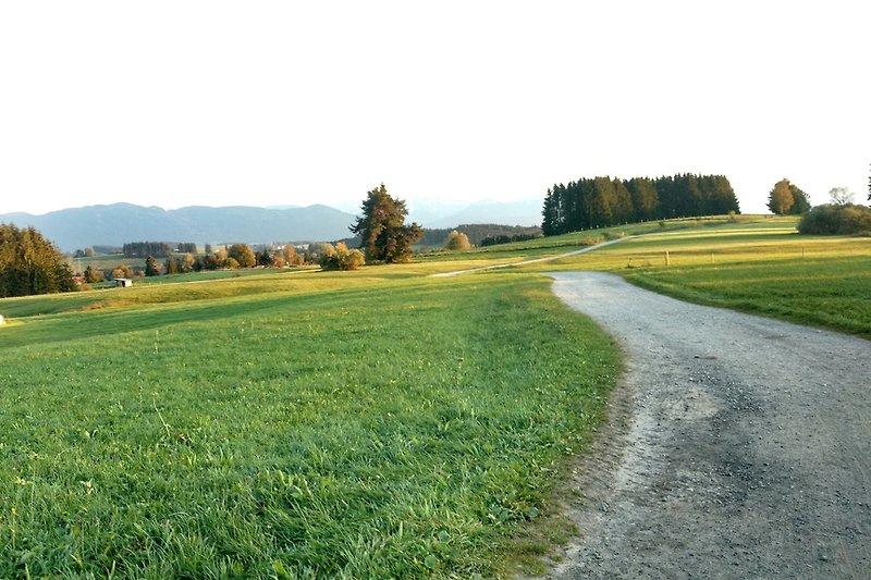 Wanderwege rund um das Dorf