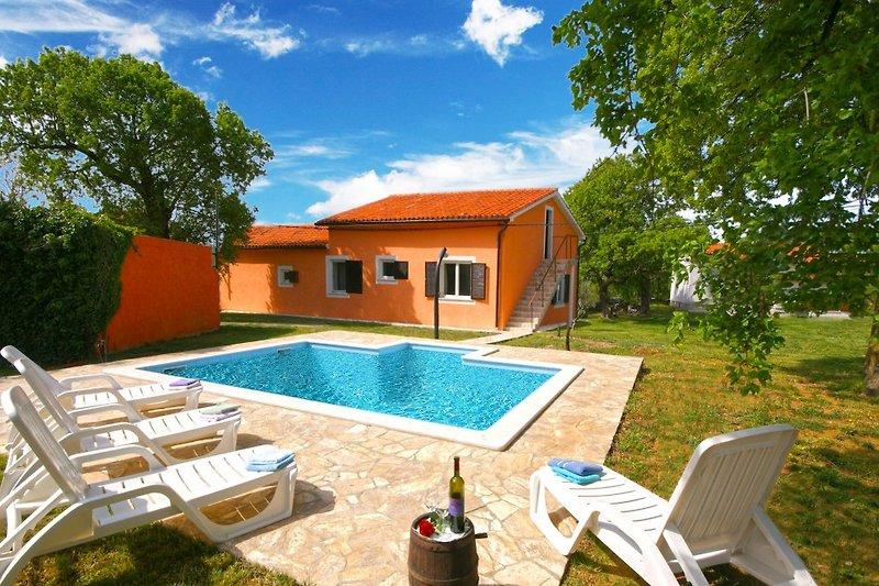 Villa Licul - eine Oase der Ruhe in der Nähe des Meeres