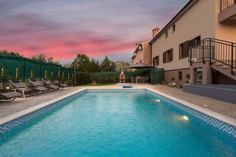Warme und ruhige Sommernächte in Istrien