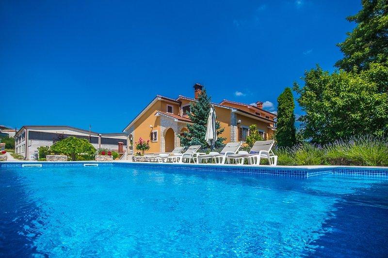 Die Villa Ritoša mit Privatem Pool