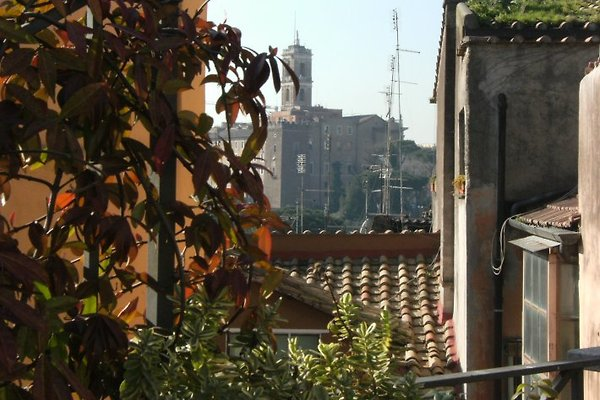 Ausblick von der Dachterrasse zum Kapitol