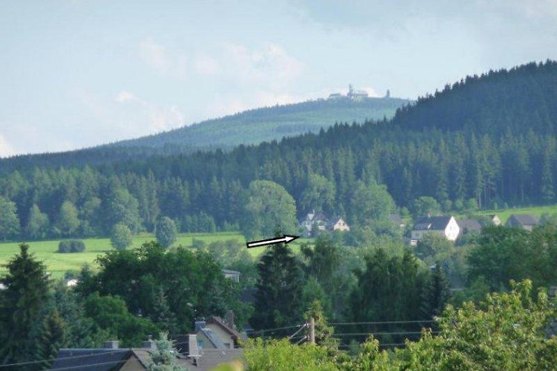 Lage des Ferienhauses am Fuße des Fichtelberges