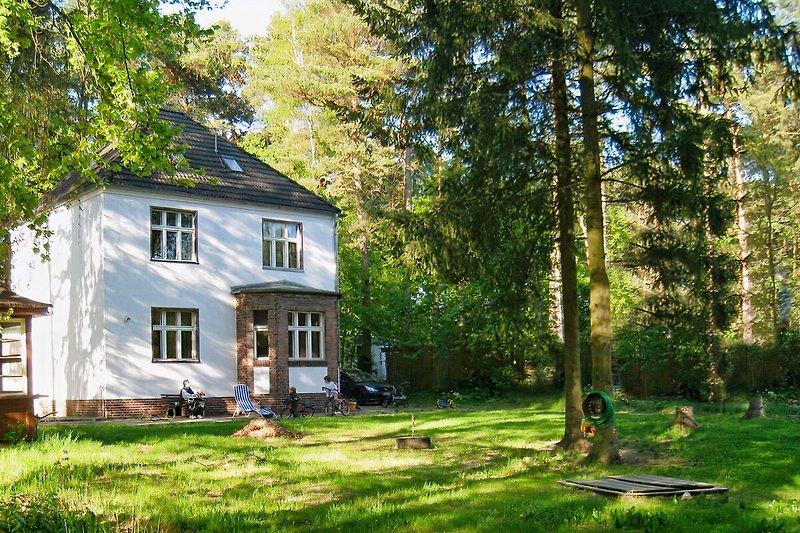 Villa am See im Sommer